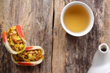 Indian sweets with hot tea