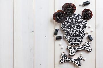 Homemade skull cookies for Halloween