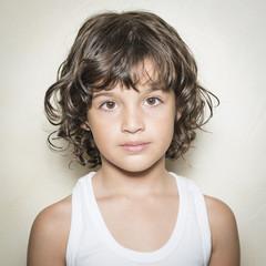 Retrato de niña de 5 años