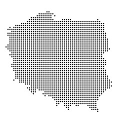 Polen - Karte als Punkte