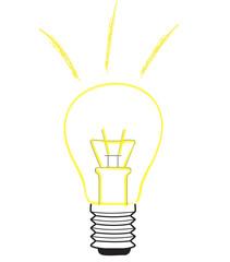 Gelbe Glühbirne - Die Idee