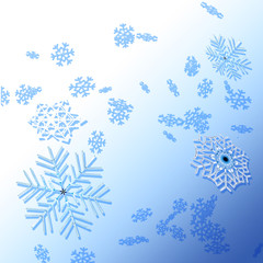 Winter background with snowflakes