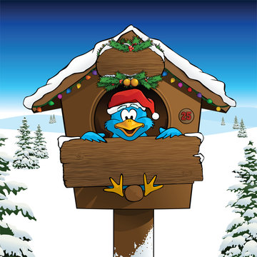 Kerstkaart Bluebird