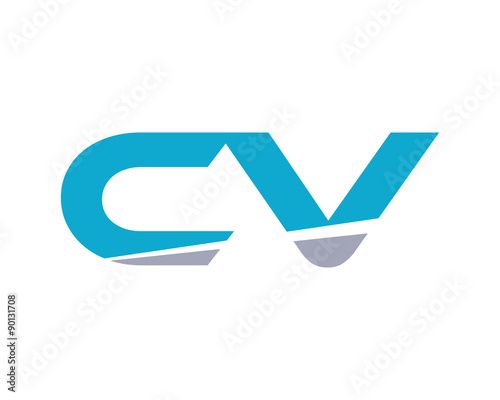 u0026quot cv letter logo modern u0026quot  stock image and royalty-free vector files on fotolia com