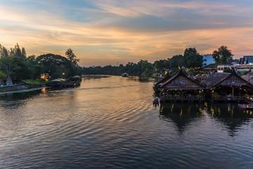 at the bridge of the river kwai in kanchanaburi thailand