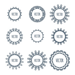 Logo collection. Round Ornament Pattern.