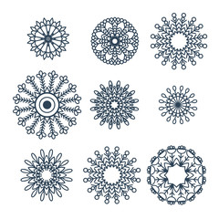 Mandalas collection. Round Ornament Pattern.