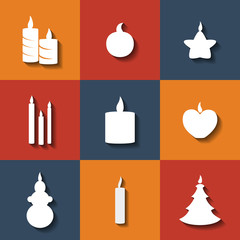 Candles icons eps10