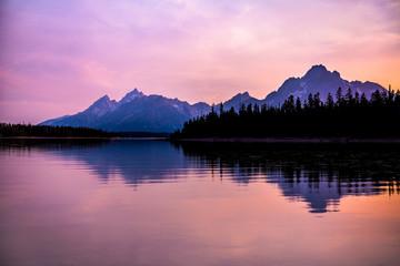 Fototapete - Mountain Sunset