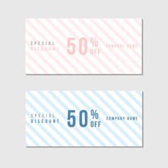 Voucher Template with Premium Minimal Style Pattern