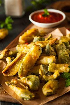 Homemade Fried Zucchini Fries