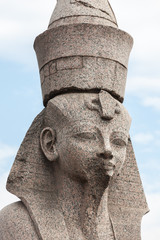 Sphinx on embankment  of the Neva River, Saint Petersburg
