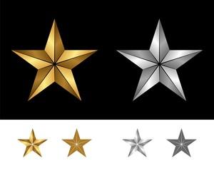 Gold & Silver Star Logo Tempalte