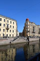 Набережная канала Грибоедова в Ленинграде.