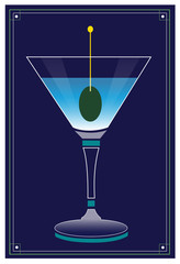 Martini / A mixed drink in a glass