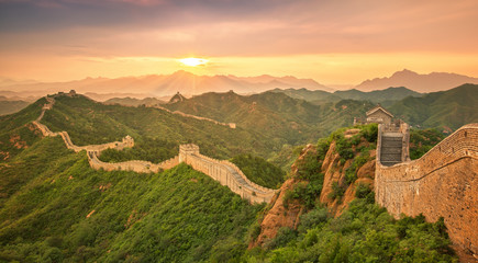 Photo sur cadre textile Chine Great Wall