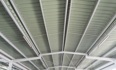 white light Corrugated metal texture surface or galvanize steel