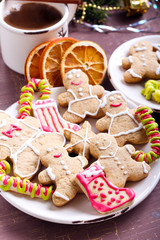 Gingerbread people biscuit