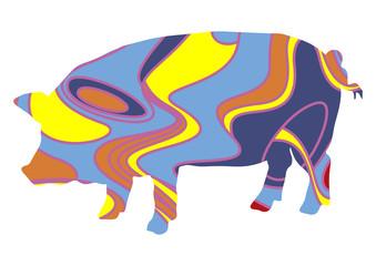 Cochon psychédélique