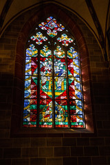 Bremen Cathedral, Germany: Window in interior of church