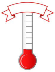 Achievement thermometer with blank banner