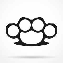 Silhouette simple symbol of Brassknuckles vector illustration