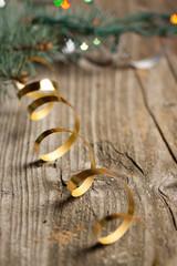 Golden christmas tape