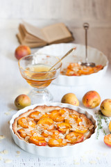 Breakfast with apricot tarte