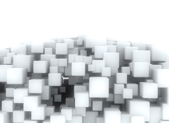 Abstract geometric shape 3d cubes