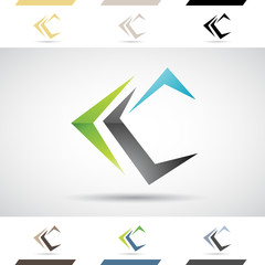 Logo Shapes and Icons of Letter C