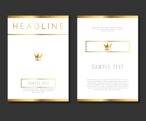 Premium Minimalism Design Vector Template Layout For Magazine Brochure Flyer Booklet Cover Annual Report