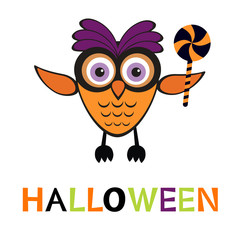 An illustration of cute halloween owl