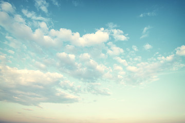 Vintage nature background with sky and cloud
