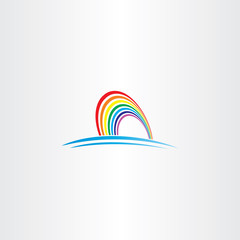 rainbow symbol vector icon