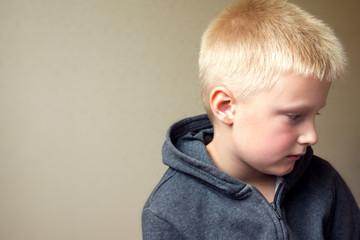 upset sad child