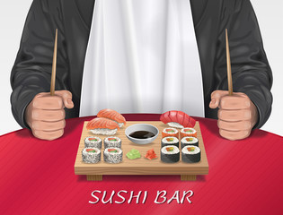 Man in Sushi Bar