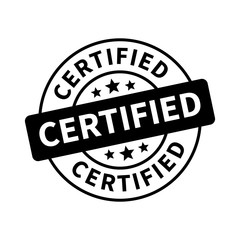 Certified stamp, label, sticker or stick flat icon
