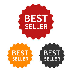 Bestseller (best seller) label or sticker badge flat icon