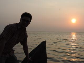 Indien Urlaub 2014 Sonnenuntergangs Boots Tour
