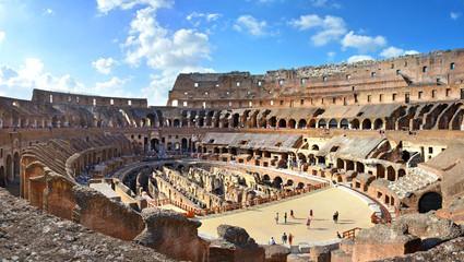 Rom Kolosseum Panorama Innenansicht innen –Rome Colosseum Panoramic View Fototapete