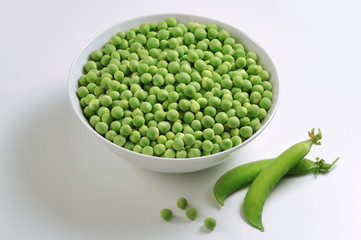 Bowl with Peas
