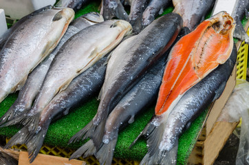 Fish market, fresh fish in street market