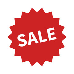 Sale badge or sticker flat icon for apps and websites