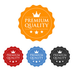 Premium quality seal or label flat icon