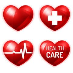 Fototapeta Zestaw ikon medycznych obraz