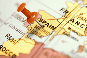 Location Spain. Red pin on the map.