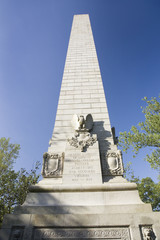 Tercentenary Monument also known as Jamestown Monument, a replica of Washington Monument, built in 1957, as part of the 300th anniversary of the Jamestown Colony, Virginia, the first permanent English colony in America, May 13, 1607.