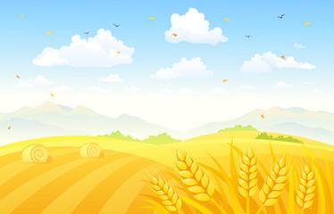 Photo sur Plexiglas Piscine Autumn fields background