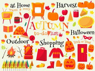 autumn bucket list design element