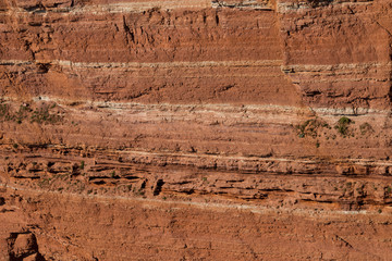 texture of red sandstone cliffs at heligoland Wall mural